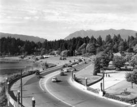 [Stanley Park Causeway featuring entrance to the park]