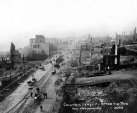 Columbia Street After the Fire, New Westminster
