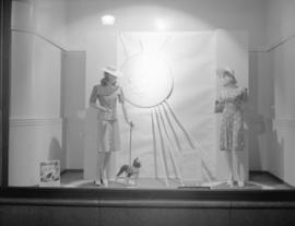 Hudson Bay Company window [of women's fashion]