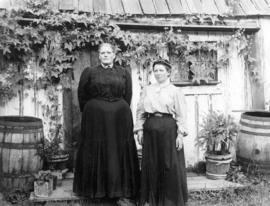 Mrs. Chapman and an unidentified woman
