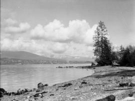 [View from Second Beach towards the North Shore]
