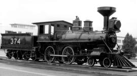 [C.P.R. locomotive No. 374 at Kitsilano Beach]
