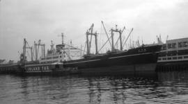 "M.S. Suruga Maru [at dock, at Pier ""B""]"