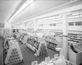 Interior [of a grocery store], Ocean Falls, B.C.