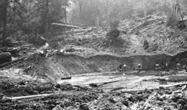 Vancouver East [excavation by hand labour, tank construction]