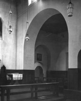 [Lamps and doorway arch], St. James' Church [303 East Cordova Street]