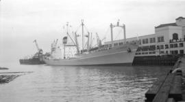 "M.S. Laurentic [at dock, at Pier ""B""]"