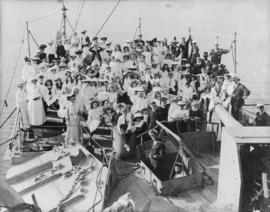 Vancouver children's party on board H.M.S. Bonaventure