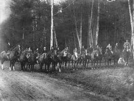 Students of Crofton House on horseback in Stanley Park