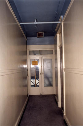 Exit doors inside Columbia Hotel at 303 Columbia Street
