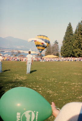 Hot air balloon at Stanley Park