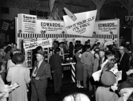 Edwards display of electric shavers