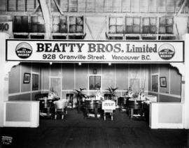 Beatty Bros. display of White Cap washing machines