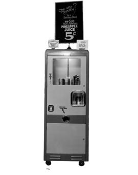 Automatic drink [pineapple juice] machine at Hudson's Bay Company