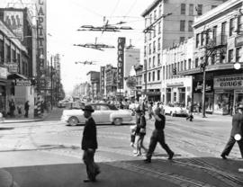 [Granville Street at Robson Street, looking south]