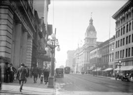 [View of Hastings Street looking west from Seymour Street]