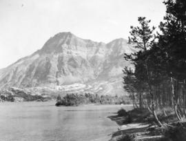 [Sofa Mountain from the bay at Waterton Lakes National Park]