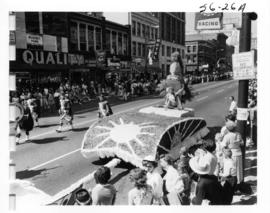 City of Nanaimo float in 1956 P.N.E. Opening Day Parade
