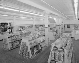 Interior [of a grocery] store, Ocean Falls, B.C.