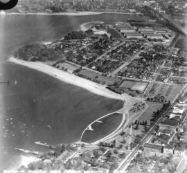 [Aerial view of] Kitsilano Beach and Park