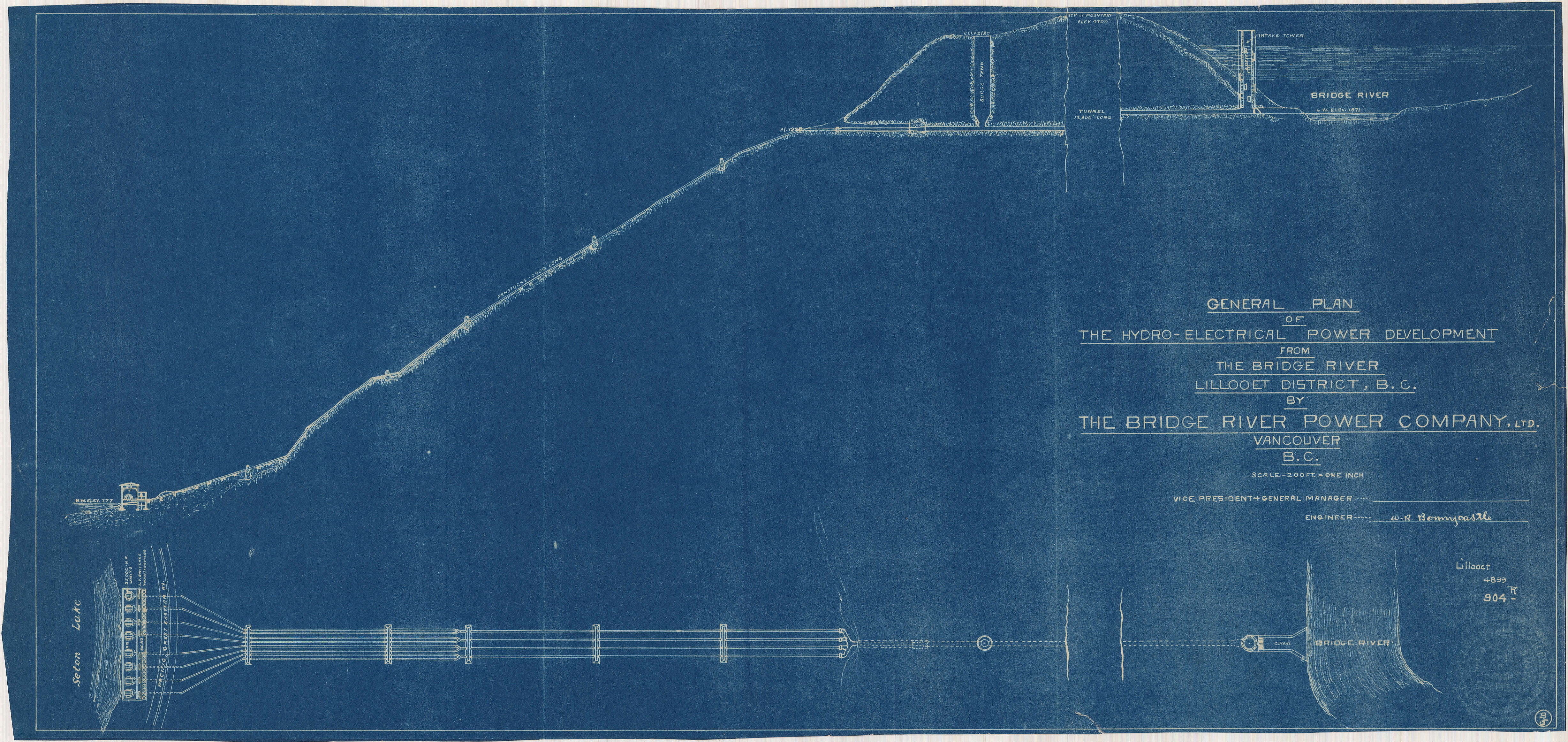 General Plan Of The Hydro Electrical Power Development From B Open Original Digital Object