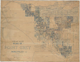 Sewage system : plan of Point Grey Municipality