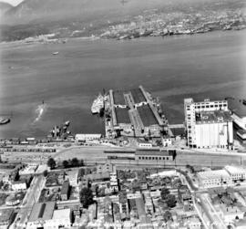 [Aerial view of] Ballantyne Pier Vancouver looking W[est]