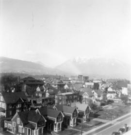 [View of the West End looking north from the roof of the nurses' residence of St. Paul'...