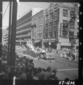 Canadian Legion Grandview Branch 179 float in 1957 P.N.E. Opening Day Parade