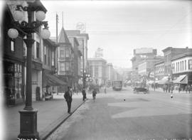 [View of Hastings Street, looking west from Columbia Street]
