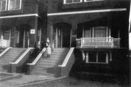 [Annie Walker Baker and son Eric Walker Baker on the steps of 2748 West 7th Avenue]