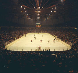 Hockey game in Pacific Coliseum