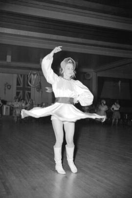 [Miss Duka Goloubef dancing at the Commodore Cabaret]