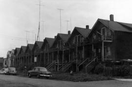 [View of residences in the 1100 block East Cordova Street]
