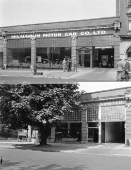 [Two views of McLaughlin Motor Car Co. Ltd., 1219 Georgia Street]