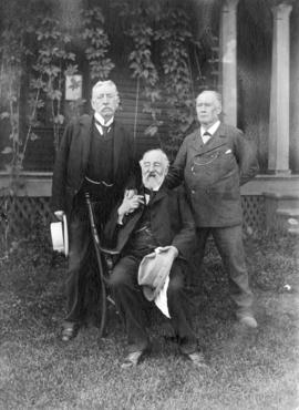 [Mr. Alwood, Sir James Hector and Edward Whymper]