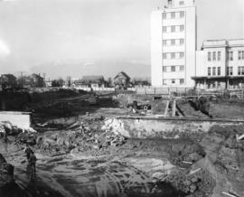 [Job no. 794 : photograph of excavation at Vancouver General Hospital construction site]