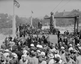Lord Mayor of London unveiling statue of Capt. Vancouver [ceremony], City Hall