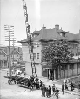 Firehall no. 2 old ladder truck (elevated)