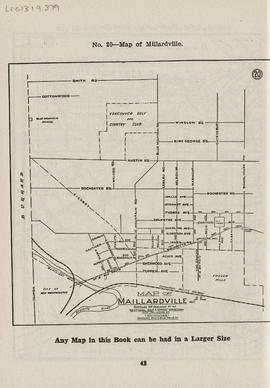 Sectional map and street directory of Vancouver, British Columbia : map of Maillardville