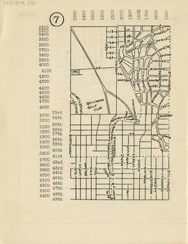 Sectional map and street directory of Vancouver, British Columbia : [Granville Street to Sixteent...