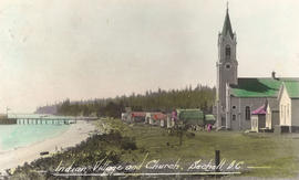 Indian Village and Church, Sechelt, B.C.