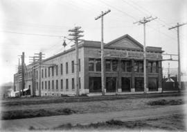 [Exterior of B.C. Electric Railway Company Limited power station]