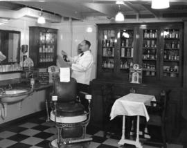 "Barbershop on the ""Empress of Canada"""