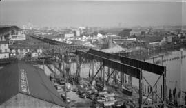 Old Granville Bridge [being demolished]