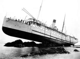 C.P.R. Co. S.S. Princess May wrecked on Sentinel Isl. Alaska