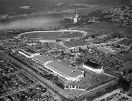 [Aerial view of] Pacific National Exhibition [at Hastings Park]