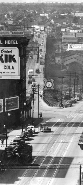 [View looking south from the north end of the second Granville Bridge]