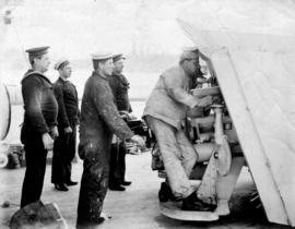 "[Crew readying guns on board H.M.C.S. ""Rainbow""]"