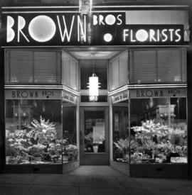 [Brown Bros. Florists' 655 Granville Street store front]